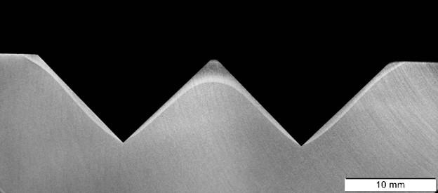 ALOhardScan - Schliffbild mit erkennbarer Härtezone
