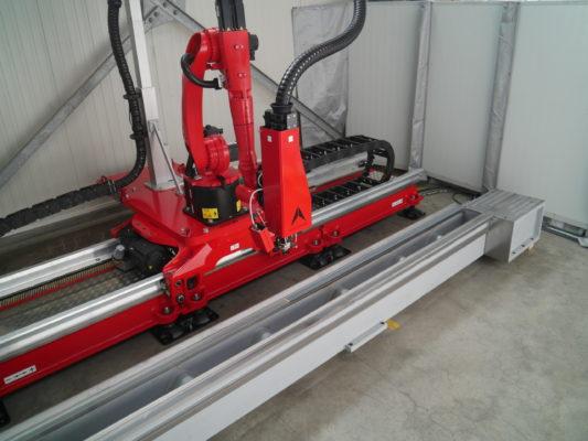 ALOhybrid - stationary laser system - laser hardening of metal lathes